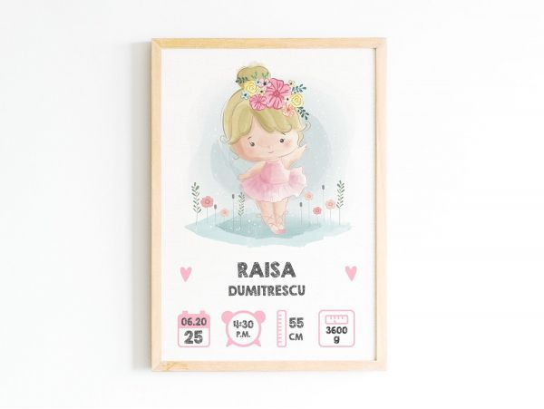 Tablou personalizat nastere bebe...