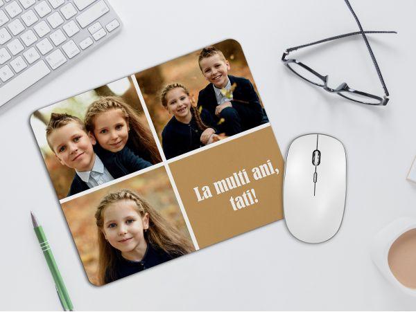 Mousepad personalizat cu 3 fotografii...