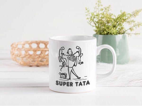 """Cană personalizată """"Super tata"""""""