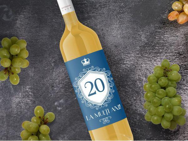 Eticheta sticla vin personalizata cu...