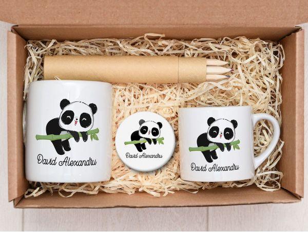 "Set cadou copii personalizat ""Panda"""