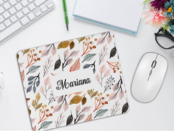"Mousepad personalizat cu nume ""Leaves"""