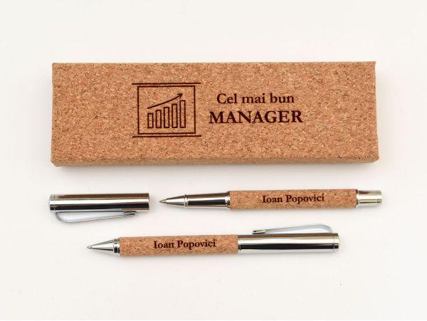Set pix si stilou deluxe pentru manager