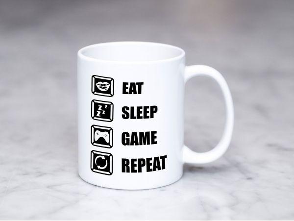"""Cana gamer personalizata """"Eat sleep..."""