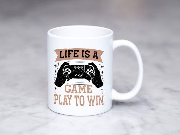 "Cana gamer personalizata ""Life is a..."