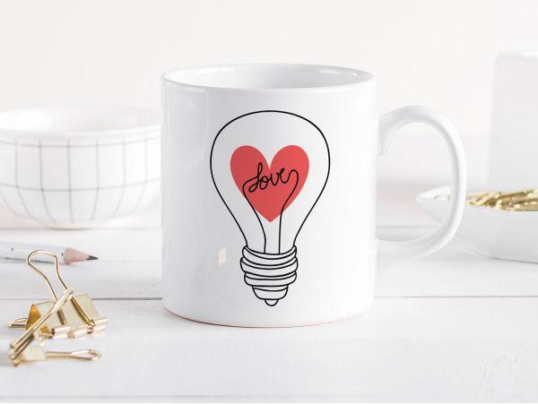 """Cana personalizata """"Love bulb"""""""