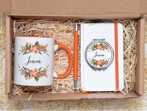 """Set cadou personalizat """"Lady in orange"""""""