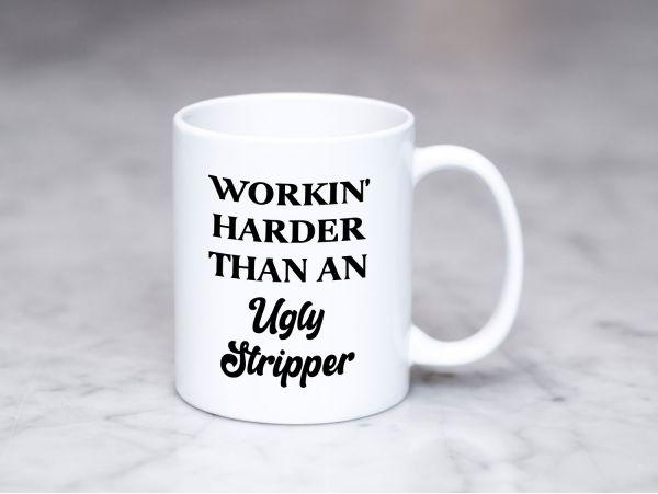 "Cana personalizata ""Workin' harder"""