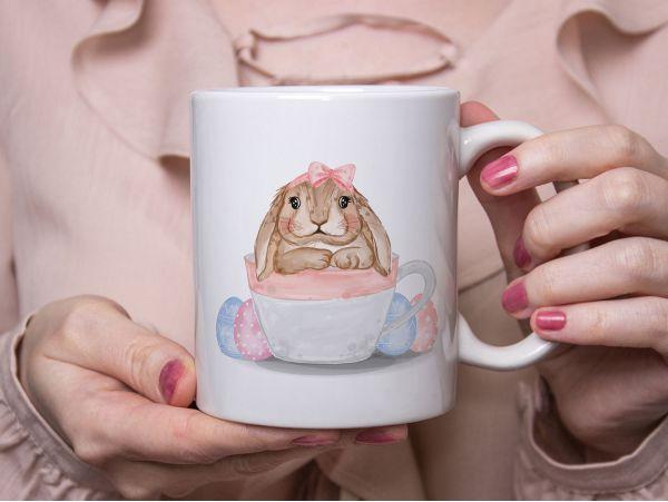 "Cana personalizata ""Bunny and eggs"""