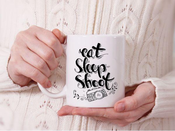 "Cana personalizata ""eat sleep shoot"""