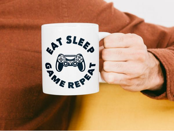 "Cana gamer personalizata ""eat sleep..."