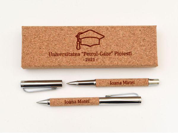 Set pix si stilou pluta pentru absolvent