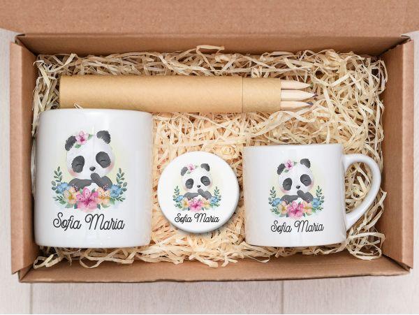 "Set cadou fetite personalizat ""Panda"""
