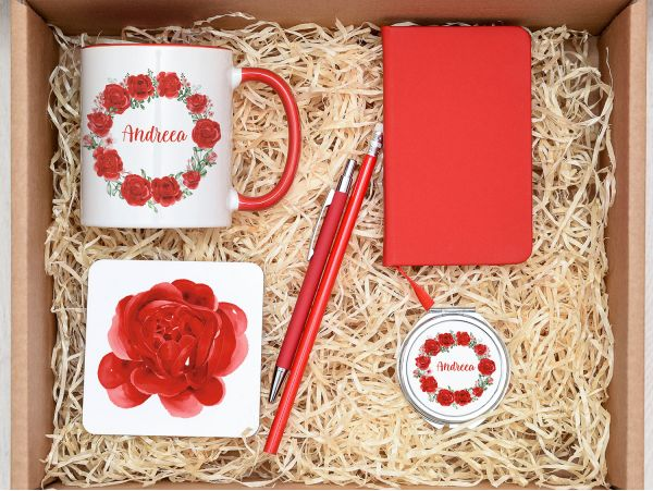 "Set cadou personalizat ""Lady in red""..."