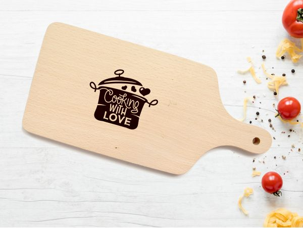 """Tocator personalizat """"Cooking with love"""""""