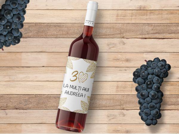 Eticheta sticla vin personalizata...