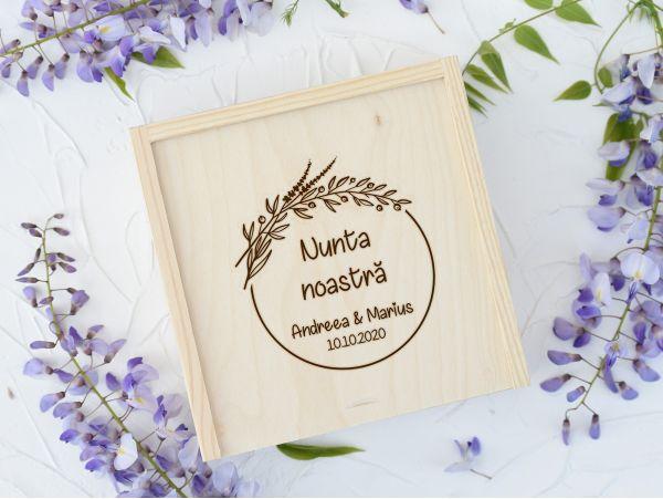 """Cutie lemn pentru foto+stick """"Nunta""""..."""