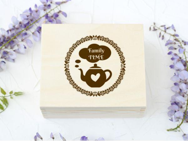 Cutie plicuri ceai personalizata...