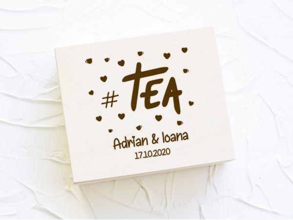 """Cutie plicuri ceai personalizata """"Tea"""""""