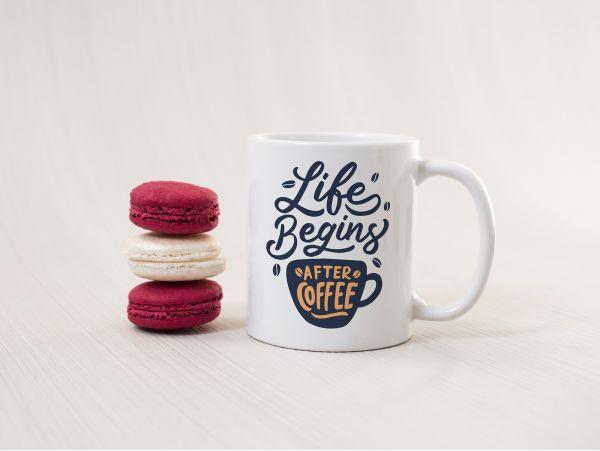 """Cană pentru cafea personalizată """"life..."""