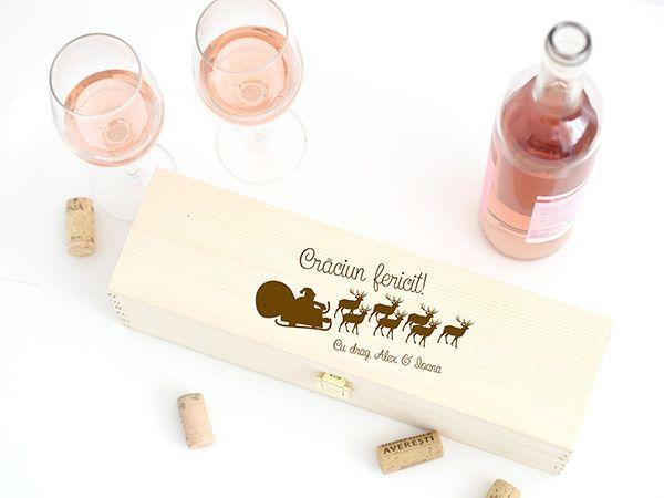 Cutii vin personalizate Craciun